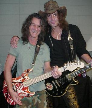 Craig deFalco and Eddie Van Halen