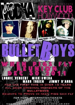 The BulletBoys Set To Reunite For December 30th Show And DVD