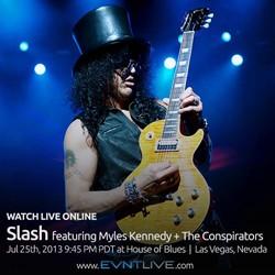 Slash To Broadcast Final Summer Concert Online At EVNTLIVE