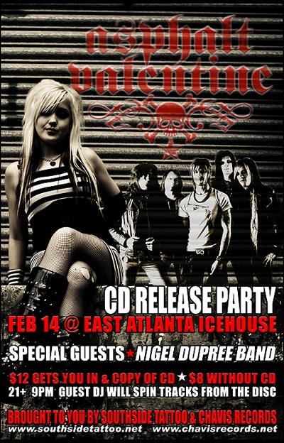 Asphalt Valentine CD Release Party Details