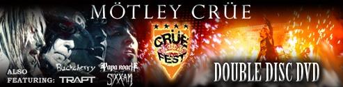 Motley Crue To Appear On Double Disc Crue Fest DVD