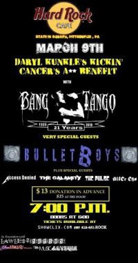 Bang Tango And BulletBoys To Take Part In Cancer Benefit