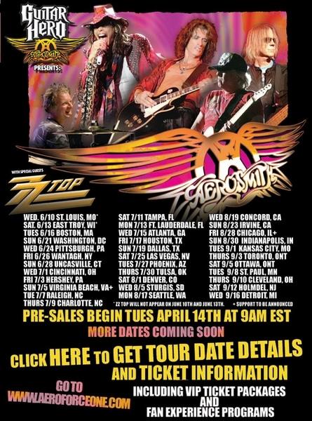 Aerosmith, ZZ Top Announce Tour Dates