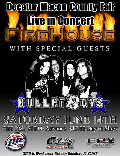 BulletBoys/FireHouse Live