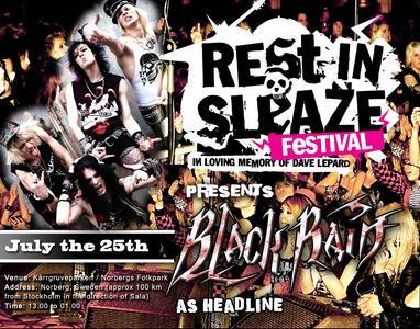 Blackrain Will Headline Rest In Sleaze Festival