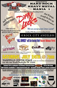 Hard Rock/Heavy Metal Mania 1 To Feature Dirty Looks, Anthony Corder Of Tora Tora And Rock City Angels