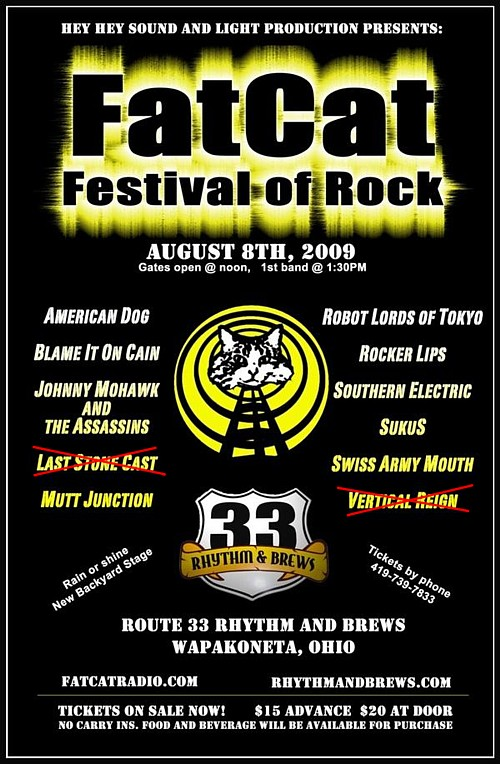 American Dog To Headline FatCat Festival Of Rock