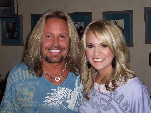 Vince Neil and Carrie Underwood