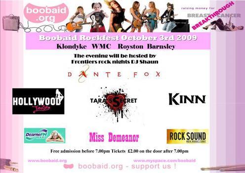 Boobaid Rockfest To Feature Dante Fox, Hollywood Tease And Tara's Secret