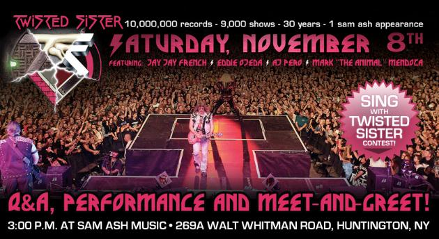 Sing With Twisted Sister At Sam Ash On Long Island