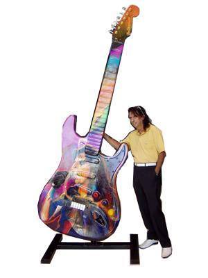 Alice Cooper 10 Foot/150 Pound Guitar Being Auctioned Online