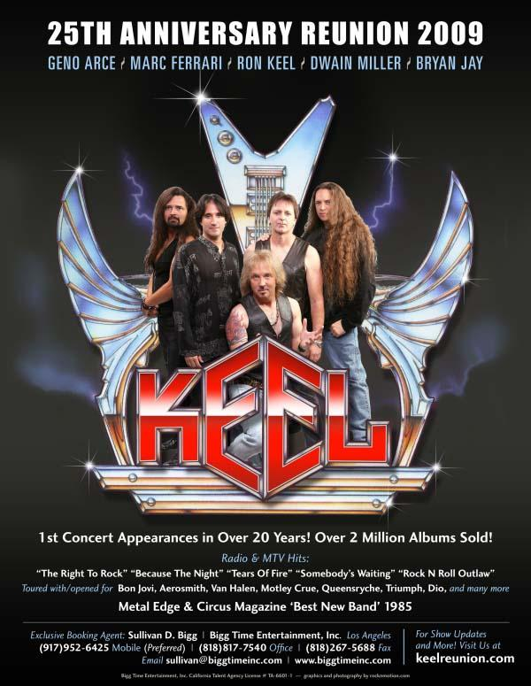 Keel To Reunite For 25th Anniversary Shows