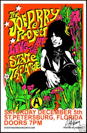 Pop Artist Adam T. Commissioned For One Off Joe Perry Project Poster