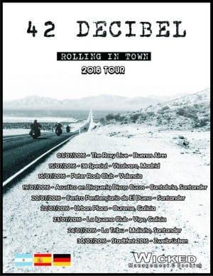 42 Decibel tour poster
