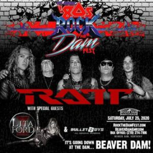 BulletBoys with original members, Ratt and Lita Ford to play '80s Rock The Dam Fest on July 25th