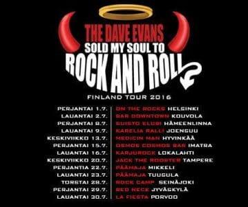 Dave Evans tour poster
