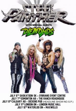 Diemonds with Steel Panther poster