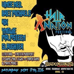 Hair Nation Festival poster