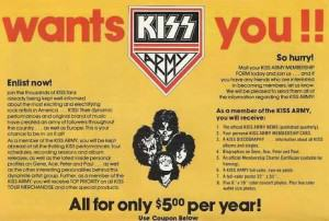 KISS Army poster