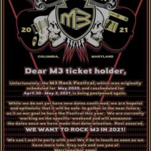 M3 Rock Festival postponed for third time with new dates to be announced for 2021