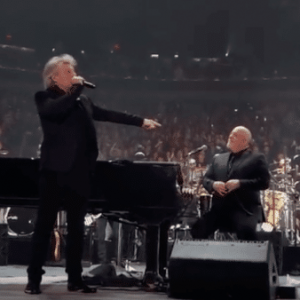 Jon Bon Jovi joins Billy Joel live at Madison Square Garden for two songs
