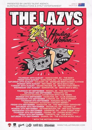 The Lazys tour poster