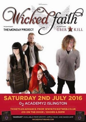 wicked faith concert poster